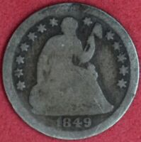 1849-O SEATED LIBERTY HALF DIME GOOD