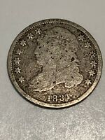 - 1831 CAPPED BUST DIME TOUGH TO FIND US EARLY SILVER COIN SILVER 10C
