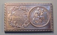 1860 U. S. SEATED LIBERTY DIME W/O STARS NUMISTAMP MEDAL COIN 1974 MORT REED