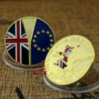 BREXIT UNITED KINGDOM BRITAIN EXIT COMMEMORATIVE COIN ENGLAND BORIS JOHNSON GIFT
