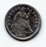 1845-P SEATED LIBERTY HALF DIME -   SEE PROMO