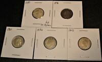 5 DIFFERENT TYPES OF BRITISH SIXPENCE COINS DATED 1881 1896