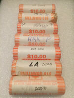 BIG LOT   7 ROLLS UNCIRCULATED BANK WRAPPED STATE QUARTERS O