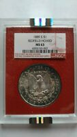 1889-S REDFIELD  MORGAN DOLLAR    NGC MINT STATE 63