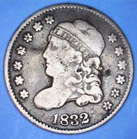 1832 WITHAM-14 / LM-9.1 CAPPED BUST HALF DIME -  DIE MARRIAGE - 81163433
