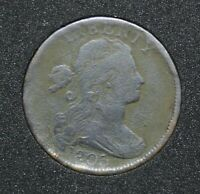 1803 DRAPED BUST LARGE CENT LG DATE, LG FRACTION S-265, R4, F DETAILS