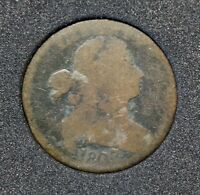 1807/6 DRAPED BUST LARGE CENT SM FRACTION, POINTED 1 S-273, R1, G