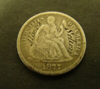 1877-S SEATED LIBERTY DIME COUNTERSTAMP SILVER