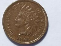 1864 L ON RIBBON INDIAN HEAD CENT   STRONG GRADE