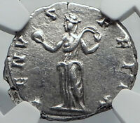 JULIA DOMNA AUTHENTIC ANCIENT SILVER ROMAN COIN VENUS LOVE GODDESS NGC I82582