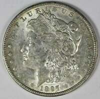 1897-O MORGAN SILVER DOLLARS AU VAM 6A, WOW VAM, , REVERSE BREAKS, NEAR DATE