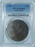 1798 PCGS GENUINE DRAPED BUST SILVER DOLLAR