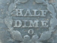 1849 O SEATED LIBERTY HALF DIME-  DATE