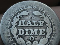 1849-O SEATED LIBERTY HALF DIME-  KEY DATE