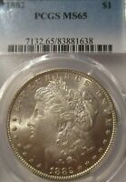 1882 MORGAN SILVER DOLLAR PCGS MINT STATE 65