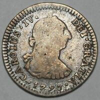 1790 MO FM CHARLES IIII IV MEXICO CITY SILVER 1 ONE REAL COI