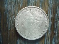 1893 US MORGAN SILVER DOLLAR.