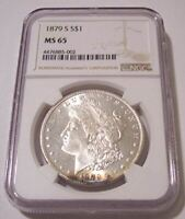 1879 S MORGAN SILVER DOLLAR MINT STATE 65 NGC