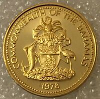 1978 BAHAMAS ONE 1 CENT COIN LOW MINTAGE PROOF FREE COMBINED