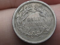 1872-S SEATED LIBERTY HALF DIME- MM ABOVE WREATH- EXTRA FINE  DETAILS