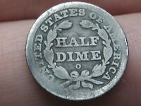 1842 O SEATED LIBERTY HALF DIME- GOOD DETAILS