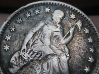 1858/58 SEATED LIBERTY HALF DIME- INVERTED DATE,