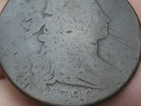 1796 DRAPED BUST LARGE CENT PENNY- REVERSE OF 1795
