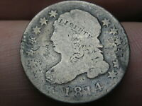 1814 CAPPED BUST SILVER DIME- LARGE DATE