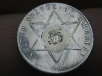 1861 THREE 3 CENT SILVER PIECE- FINE/VF DETAILS