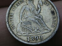 1890 P SEATED LIBERTY DIME- EXTRA FINE  DETAILS