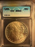 1886 ICG MINT STATE 65 VAM 6A HIGH 6 CLASHED INCUSE