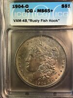 1904 O ICG MINT STATE 65 VAM 4B RUSTY FISH HOOK HITLIST 40 SUPER CD MORGAN SILVER DOLLAR
