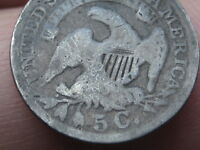 1836 SILVER CAPPED BUST HALF DIME- LARGE 5C