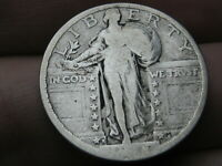 1918 S SILVER STANDING LIBERTY QUARTER, VG DETAILS