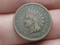 1866 INDIAN HEAD CENT PENNY- FINE DETAILS