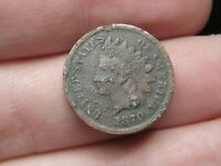1870 INDIAN HEAD CENT PENNY- BOLD N, METAL DETECTOR FIND?