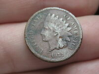 1873 INDIAN HEAD CENT PENNY- FINE/VF DETAILS, CLOSED 3
