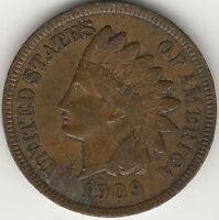 1909 INDIAN HEAD CENT / PENNY - EXACT COIN PICTURED HI-RES. SCANS - 3