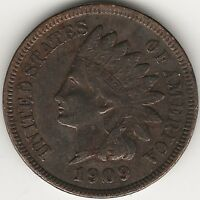 1909 INDIAN HEAD CENT / PENNY - EXACT COIN PICTURED HI-RES. SCANS - 4