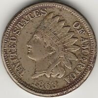 1863 INDIAN HEAD CENT / PENNY - EXACT COIN PICTURED HI-RES. SCANS - 5
