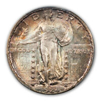 1924-S 25C STANDING LIBERTY QUARTER PCGS MINT STATE 67 CAC
