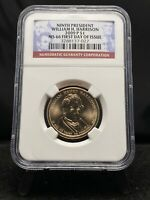 2009-P $1 WILLIAM H. HARRISON PRESIDENTIAL DOLLAR NGC MINT STATE 66 1ST DAY 3160