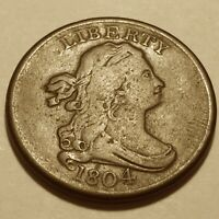 1804 DRAPPED BUST HALF CENT VF / EXTRA FINE  216 YEARS OLD  5