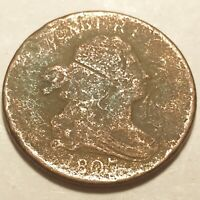 1807 DRAPPED BUST HALF CENT  213 YEARS OLD