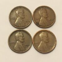 1925-P-D-S LINCOLN WHEAT PENNIES-VG-VF  DATES