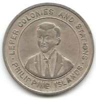 PHILIPPINES 1930 CULION ISLAND LEPER COLONY 10 CENTAVOS COIN KM 10 LOW MINTAGE