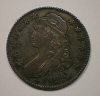 1829 CAPPED BUST SILVER HALF DOLLAR VERY NICE WITH DEEP ORIG