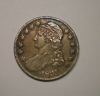 1831 CAPPED BUST SILVER HALF DOLLAR NICELY DETAILED EXAMPLE.