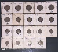 DOMINICAN REPUBLIC REPUBLICA DOMINICANA COINS MOUNTED
