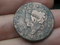 1818 MATRON HEAD LARGE CENT PENNY, GOOD DETAILS